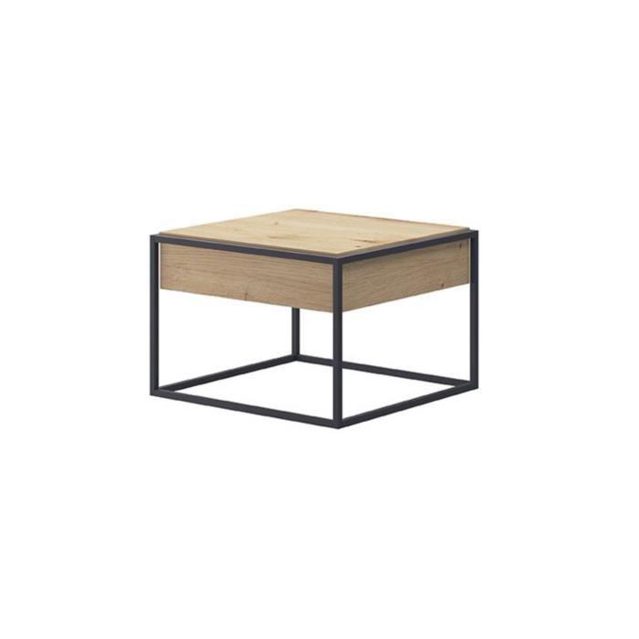 Table basse industrielle carrée ENJOY 60 cm