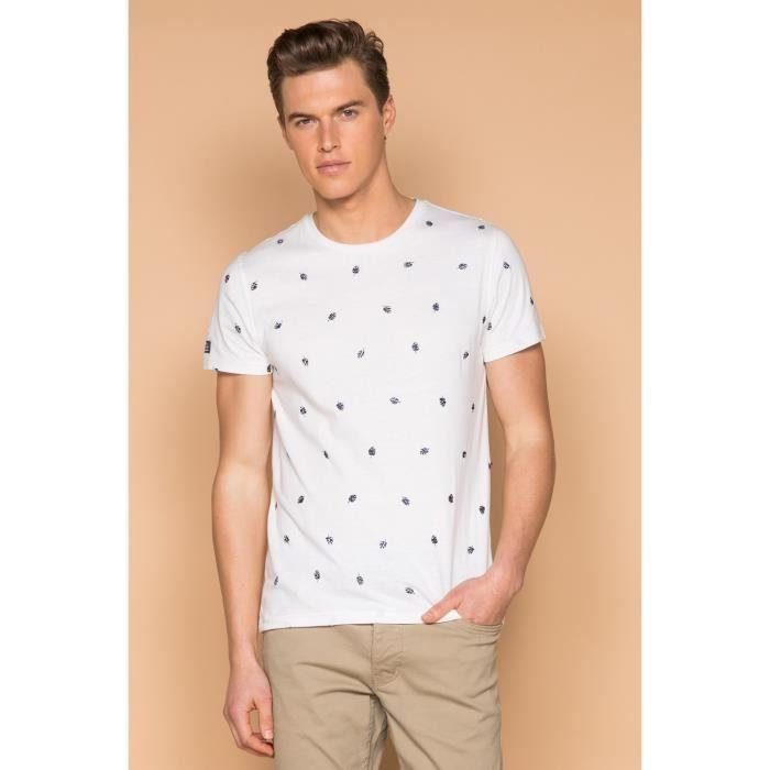 T-shirt à motif feuillage