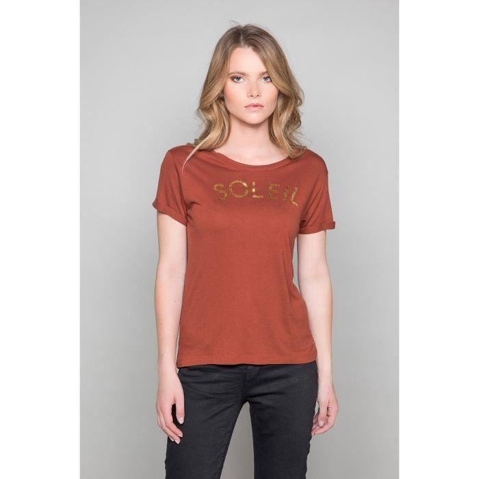 T-shirt 'Soleil' JENNY - Couleur - Cognac, Taille - M
