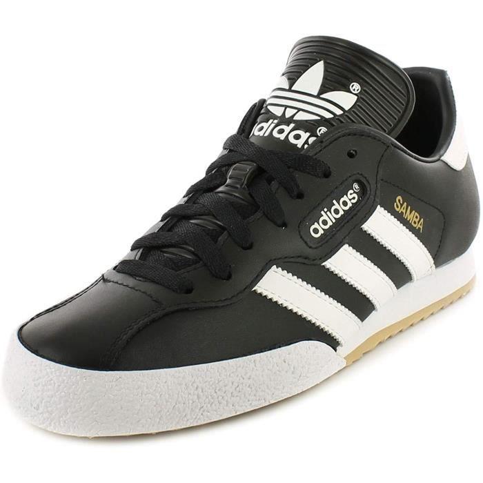 Adidas Originals Samba Super Hommes Cuir Matière Course Baskets Noir/Blanc - 10 UK