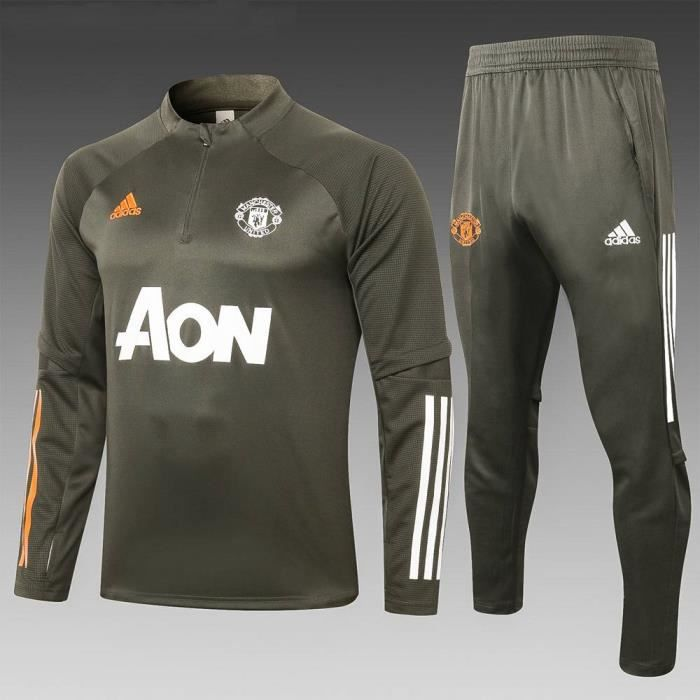 Nouveau Manchester United Maillot de Foot Homme Enfants 2021 Ensemble Survêtements D'entraînement de Football