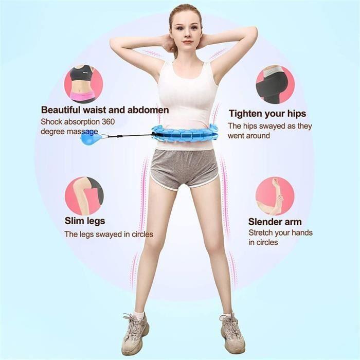 Cerceau Fitness 24 Sections Amovibles, Hula Hoop Adulte Réglable Amincissement de Taille taille 120 cm