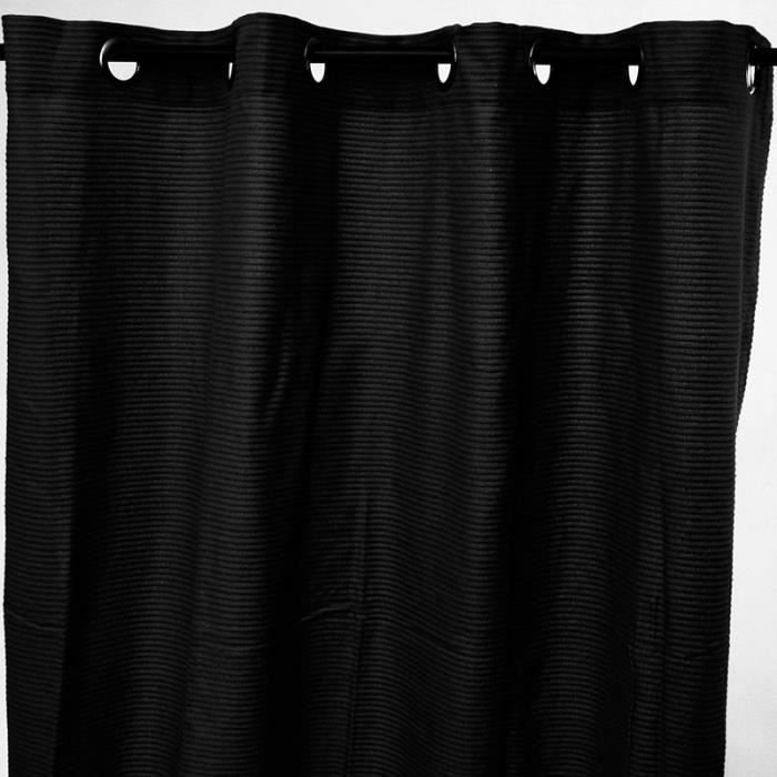 Rideau URBAN (150x250cm) 100% Coton Noir
