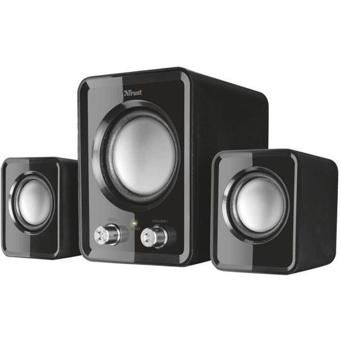 Trust Ziva Compact Système de haut-parleur pour PC Canal 2.1 6 Watt (Totale)