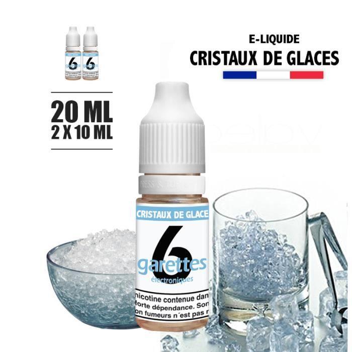 E-liquide 20ML saveur CRISTAUX DE GLACE avec 6MG de nicotine (e-liquide id : PROD998) - (2x10ML)