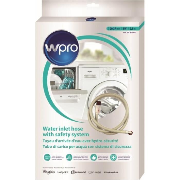 WPRO SIH250 Tuyau d'alimentation avec hydrosécurité - Droit/coudé - femelle/femelle - 2,5 m - antifuite