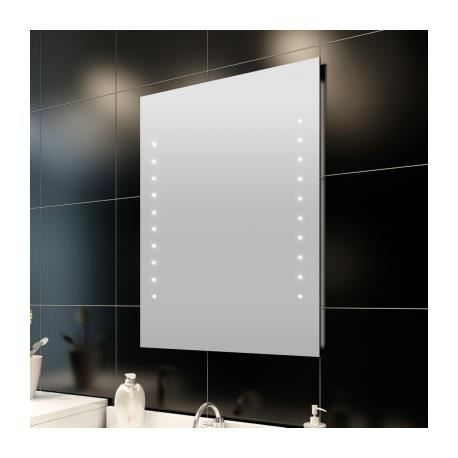miroir de salle de bain avec clairage led 60 x 80 cml x h. Black Bedroom Furniture Sets. Home Design Ideas