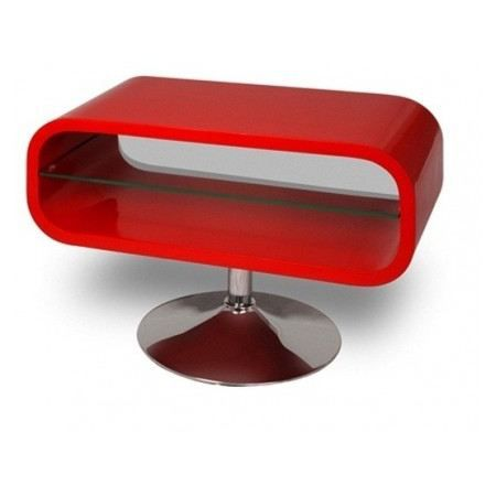 Meuble Tv Design Night Rouge Laqu Achat Vente Meuble