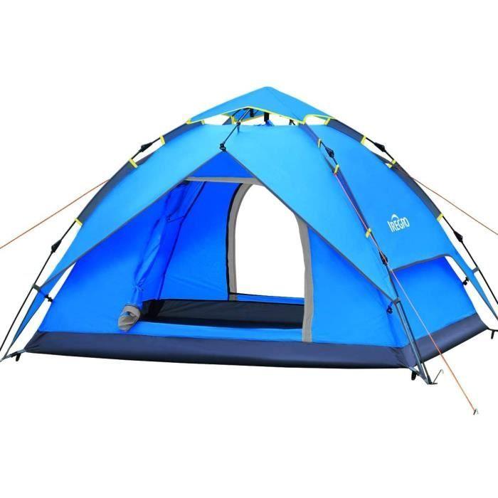 UV Protection Tente de Plage Convient pour la Famille de b/éb/é P/êche Adulte Tente Portable Tente Installation Simple Tente ext/érieure IREGRO Grande Tente de Plage pour 3 /à 5 Personnes avec UPF50