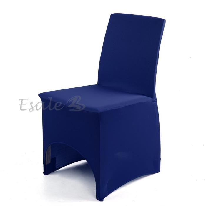 housse de chaise bleu royal en lycra extensible d co mariage anniversaire f te achat vente. Black Bedroom Furniture Sets. Home Design Ideas