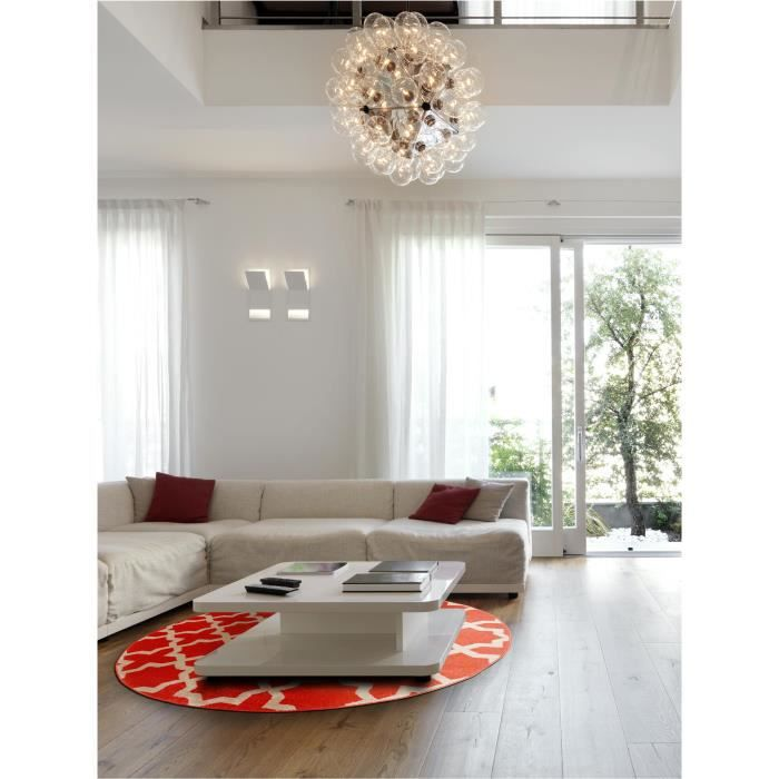 benuta tapis rond arabesque orange 200 cm rond achat. Black Bedroom Furniture Sets. Home Design Ideas