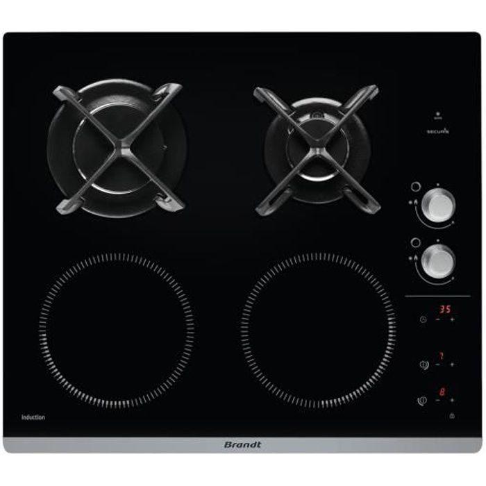 PLAQUE MIXTE BRANDT Table de 4 plaques de cuisson mixte à induc