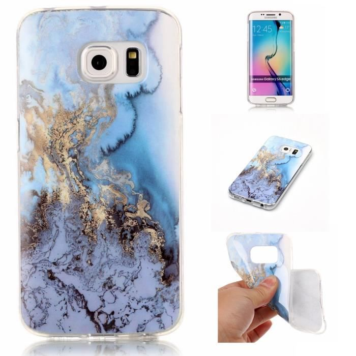 samsung galaxy s6 edge coque marbre