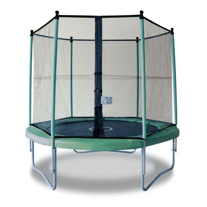 kangui trampoline twin 250 avec filet achat vente trampoline cdiscount. Black Bedroom Furniture Sets. Home Design Ideas