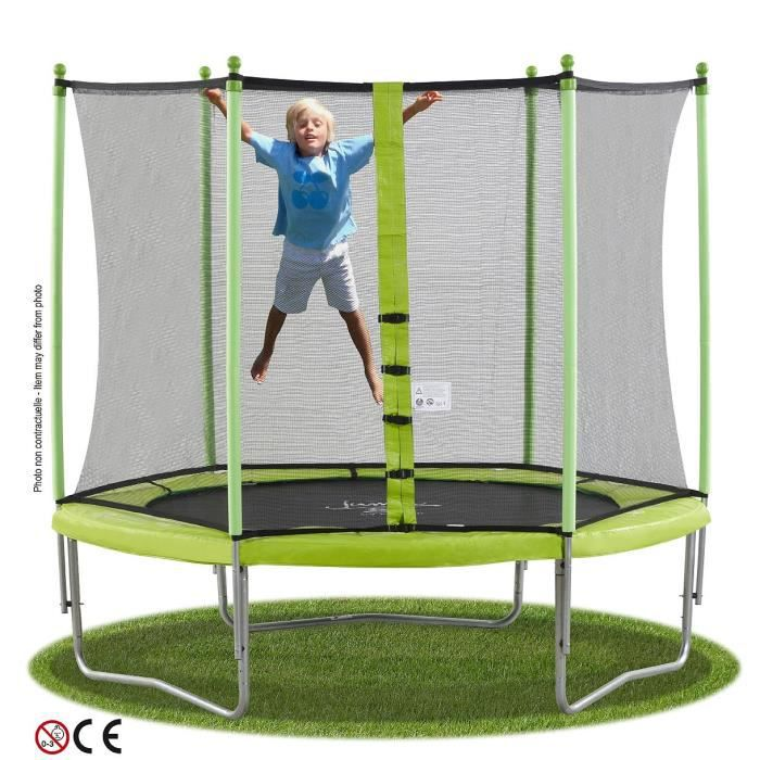 kangui trampoline jumpi 2 4 m filet achat vente trampoline les soldes sur cdiscount. Black Bedroom Furniture Sets. Home Design Ideas