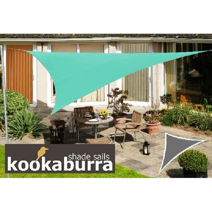 kookaburra voile d 39 ombrage imperm able 3 6m triangle turquoise achat vente voile d 39 ombrage. Black Bedroom Furniture Sets. Home Design Ideas