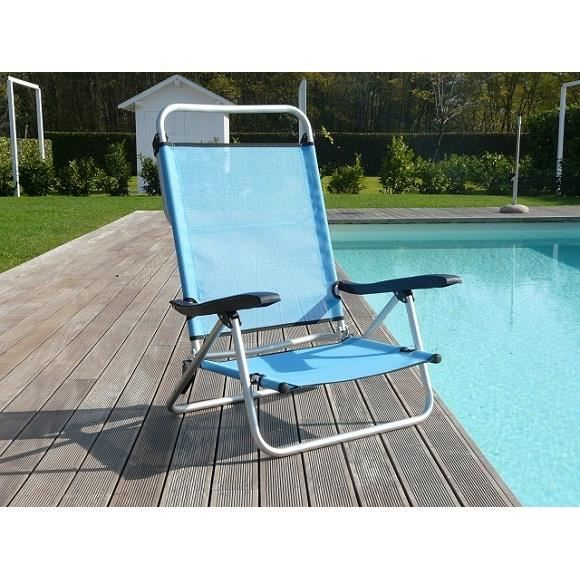 chaise de jardin silla pliante aluminium bleu achat vente chaise fauteuil jardin chaise de. Black Bedroom Furniture Sets. Home Design Ideas