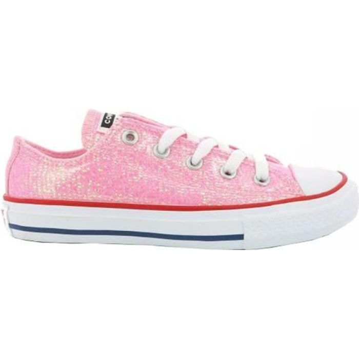 Baskets rose chuck taylor all star glitter enfant fille converse