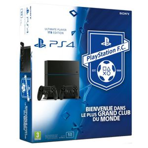 CONSOLE PS4 PS4 1 To + 2e manette DualShock 4 Noire + Playstat