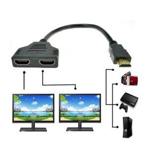 CÂBLE RÉSEAU  XLQ61227702@1080P port HDMI mâle à 2 femelle 1 en