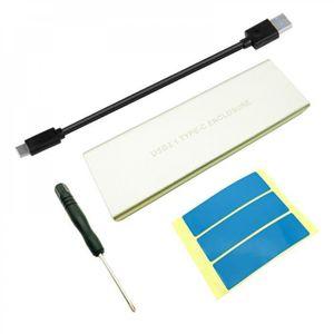 HOUSSE DISQUE DUR EXT. NVMe PCIE USB 3.1 HDD boîtier M.2 à USB SSD disque