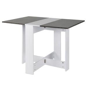 TABLE À MANGER SEULE KEKE-Table de Salle de Manger Table Pilable de 4 P