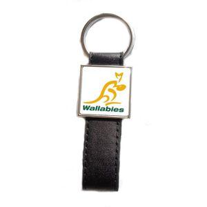 PORTE-CLÉS Porte-clés acier/simili cuir Rugby Wallabies - Aus
