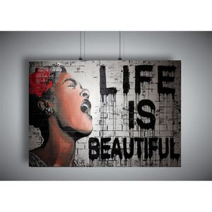 AFFICHE - POSTER Poster BANKSY STREET ART LIFE IS BEAUTIFUL GRAFFIT