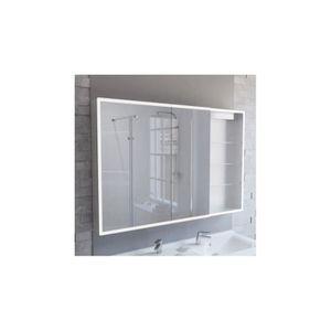 ARMOIRE DE CHAMBRE Armoire miroir LED ARMILED avec 2 portes, étagères