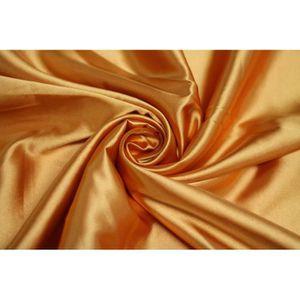 TISSU Tissu Satin Elasthanne Orange -Au Mètre