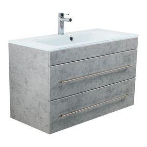 Meuble salle de bain vasque verre