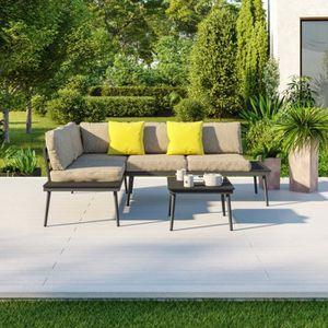 Salon de jardin couleur sable