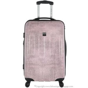 VALISE - BAGAGE FRANCE BAG Valise cabine rigide CANCUN Rose Jeans