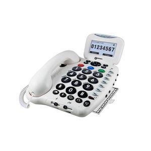 Téléphone fixe sénior GEEMARC Téléphone grosses touches sénior multifonc