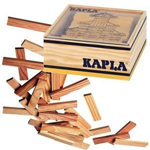 ASSEMBLAGE CONSTRUCTION KAPLA Coffret Bois 40 Planchettes - Jaune