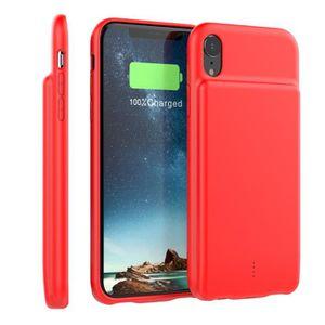 Batterie téléphone Coque Batterie Pour iPhone Xr,Batterie Externe Rec