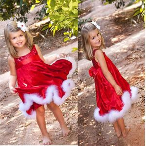 DÉGUISEMENT - PANOPLIE bébé Filles Party de Noël d'enfants rouge Paillett