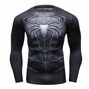 T-SHIRT Spiderman Black compression  T-shirt manches longu