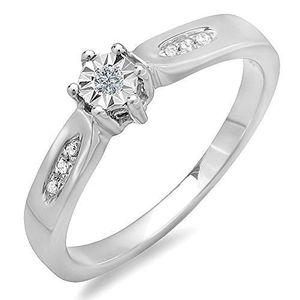 bague argent diamant pas cher