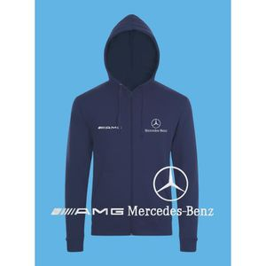 SWEATSHIRT Mercedes Benz AMG Sweat Capuche Pull Zippé Logo Br