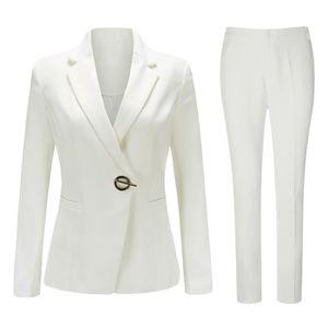 COSTUME - TAILLEUR Costume femme 2 pieces un bouton (veste+slim panta