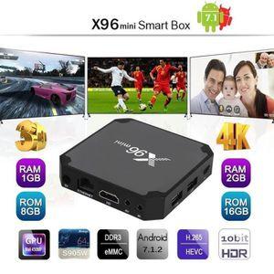 BOX MULTIMEDIA X96 mini TV Box 4K Lecteur Multimédia Android 7.1.