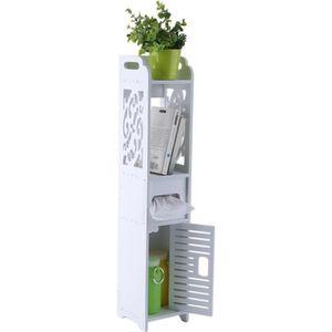 COLONNE - ARMOIRE WC Meuble WC Colonne étagère Toilette Bois Plastique