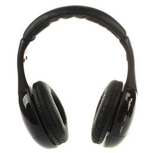 CASQUE - ÉCOUTEURS Casque sans fil Hi-Fi Radio FM ecouteurs MP3 pour