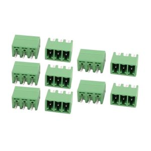 sourcing map 25 pcs LZ1V 7,62mm Pitch 2P PCB Bornier montage connecteur