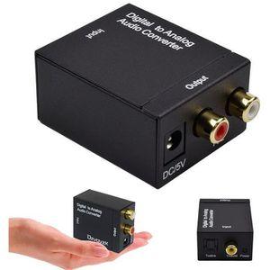 REPARTITEUR TV Audio SPDIF Optique RCA Analogique vers Numérique