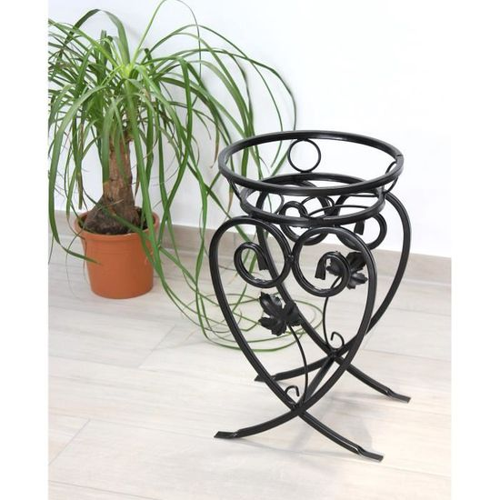 35 /Étag/ère de rangement ronde en fer forg/é Pour fleurs et plantes