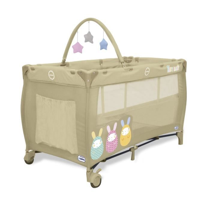 asalvo baby lit parapluie complet duo bebe lapins beige achat vente lit pliant 8435195911251. Black Bedroom Furniture Sets. Home Design Ideas