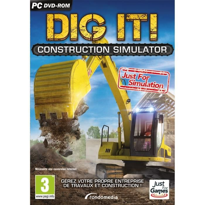 Dig It : Construction Simulator Jeu PC