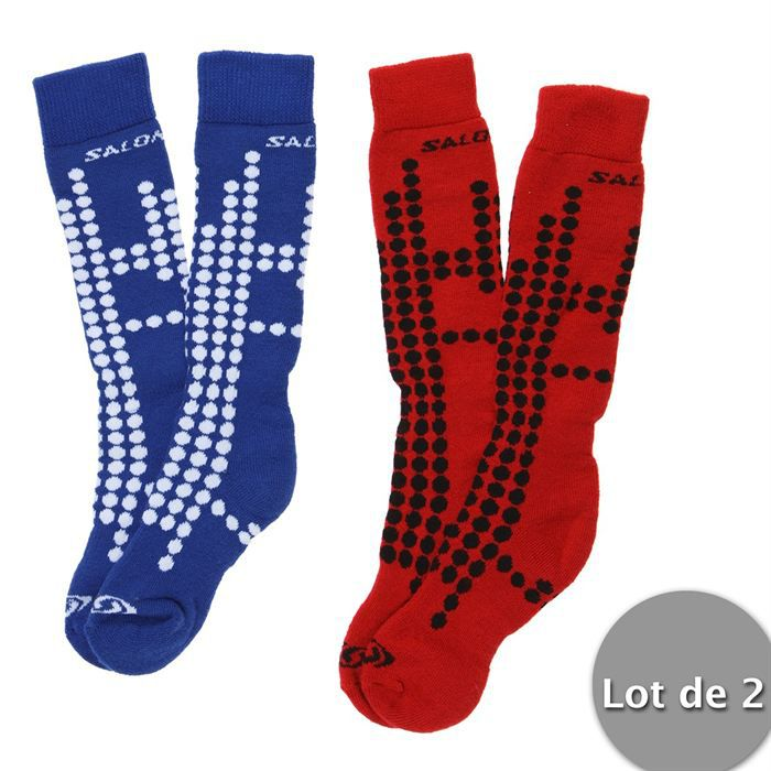 salomon 2 chaussettes de ski team enfant achat vente. Black Bedroom Furniture Sets. Home Design Ideas